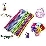 SUPVOX 200pcs limpiapipas Set Tallos de Chenilla Colores Artes Tallo de Chenilla para Bricolaje Arte Manualidades Creativas Decoraciones