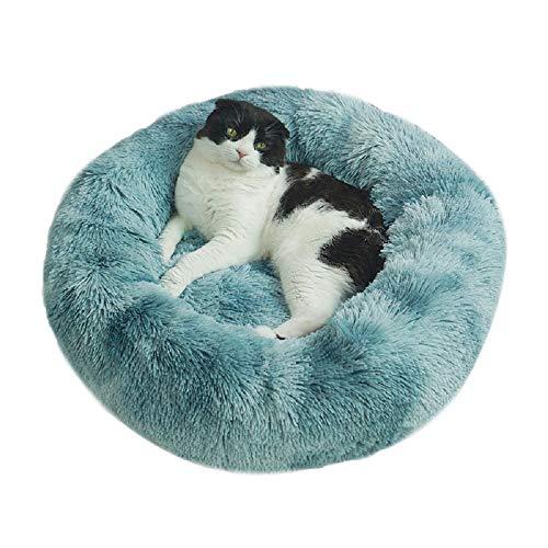 Vivi Bear Hundekissen, extra weich, bequem und niedlich, Kissen für Katzenbett, waschbar, geeignet für Katzen und kleine Hunde mit mittlerer Größe (50 cm Durchmesser)