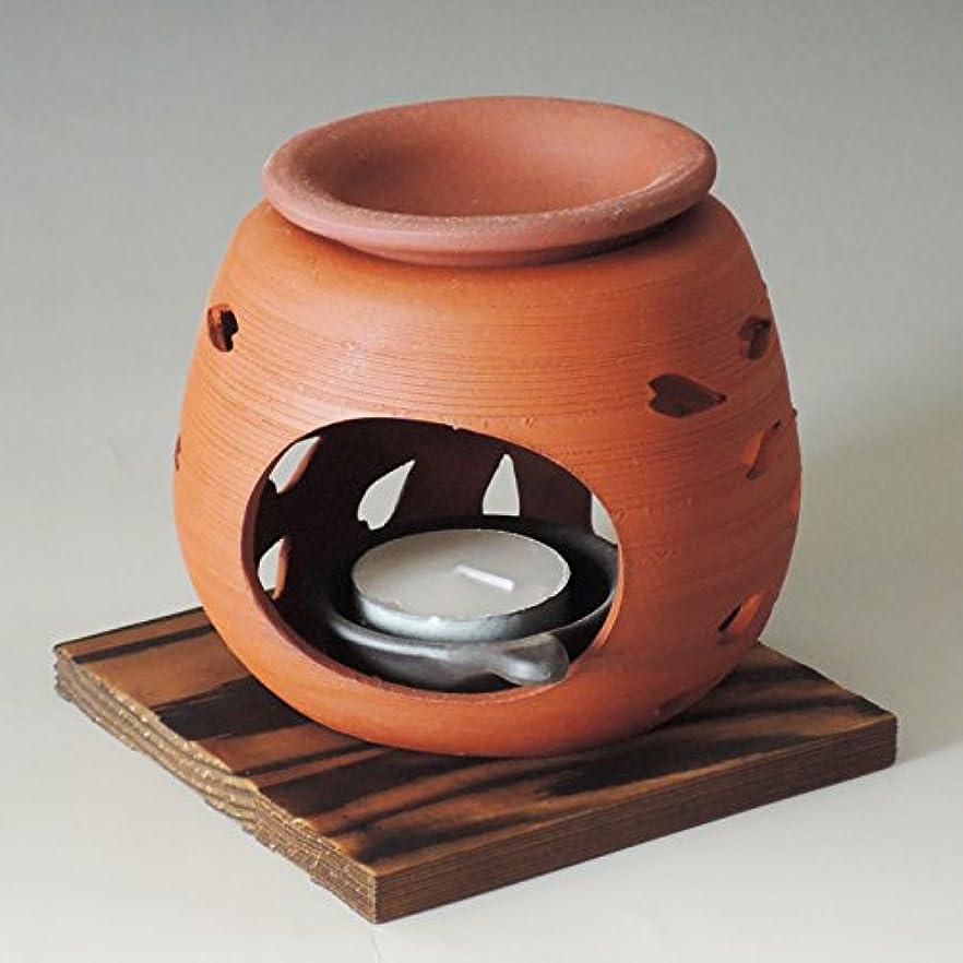 接続黙欺く茶香炉 常滑焼 石龍作「花びら」川本屋茶舗