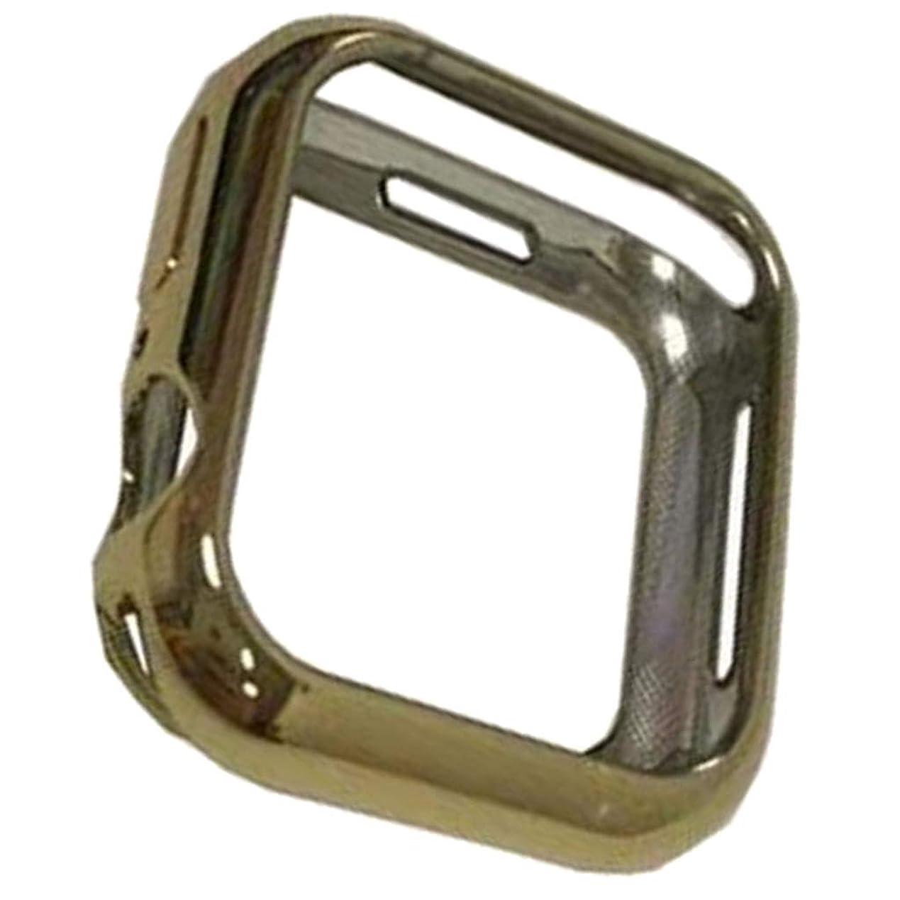 コンチネンタル関係鼻D DOLITY プロテクター 互換性 iWatch Series 4用 ソフトスリム 保護ケース カバー - ゴールド