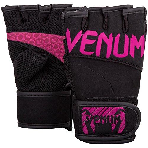 Venum Mujeres de Aero Cuerpo Fitness Guantes, Mujer, Aero, Black/Neo Pink, S/M