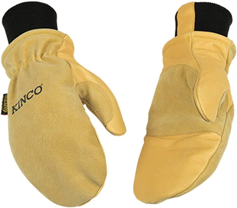 Kinco 901T Heavy Duty Lined Suede/Leather Snowboard Mittens - Single Pair