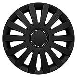 CM DESIGN Radkappen 15 Zoll Wind matt schwarz Radzierblenden für Fast Jede handelsüblich Stahlfelge