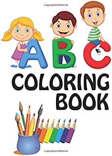 ABC Coloring Book: (Dover Little Activity Books) quality black & white Alphabet coloring book for kids ages 2-8. Toddler A...