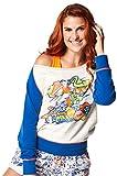 Zumba Fitness zmoji boatn Esquina Sudadera Top, otoño/Invierno, Mujer, Color Surfs Up Blue, tamaño M
