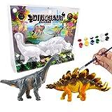 Sailfish Decora Tus propias Figuras de Dinosaurios DIY Dinosaur Arts Crafts Pintura 3D Dinosaurios Juguetes para niños (Brachiosaurus + Stegosaurus)