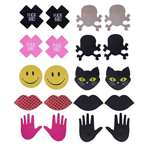 HDE 10 pares de tapas de pezones desechables para mujer