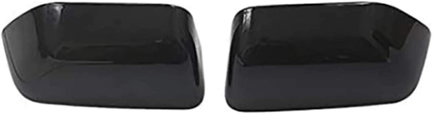 NIUASH Rearview Mirror Cover Cov Max 81% OFF Soldering ABS 1pair Black