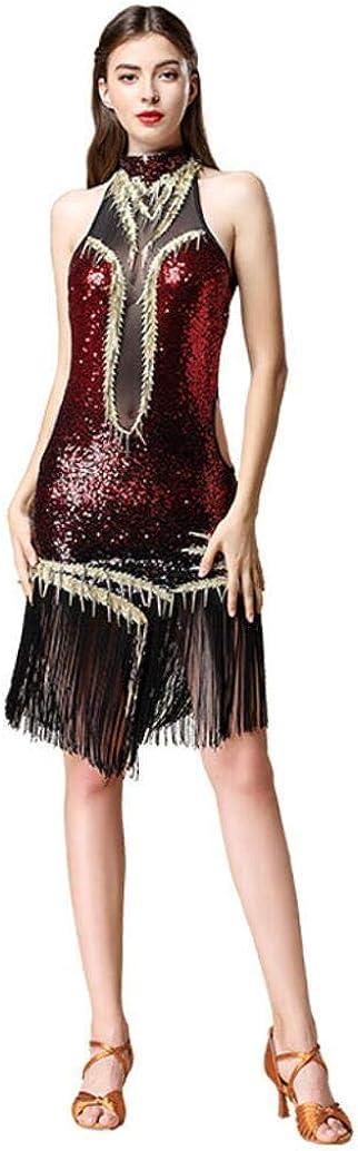 ZX Women Max 43% OFF Latin Spring new work Ballroom Dance Sequin Professional Dress Tassel
