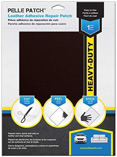 Pelle Patch - Selbstklebender Reparaturflicken für Leder und Vinyl - In 25 Farben erhältlich - Heavy-Duty 20cm x 28cm - Wein