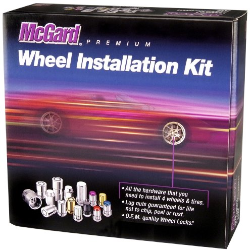 McGard 84527 Black Cone Seat Wheel Installation Kit (M14 X 1.5 Thread Size - for 5 Lug Wheels