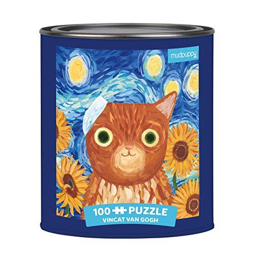 Artsy Cats Vincat van Gogh: 100 piece puzzle tin