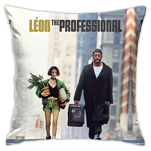 Mathilda Lando Leon Adventure TV Show items The Professional Jean Reno funda de almohada para niños regalos con acolchado 3d impresión 45x45cm