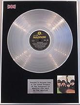 UK Music Awards The Beatles–LP Disco de Platino–Beatles para la Venta (Original Amarillo Parlophone Etiqueta)