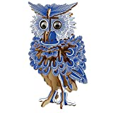 Rompecabezas de Madera 3D Walking Owl Toy Toy Animal Puzzle Home Decoration DIY Crafts Children Gifts