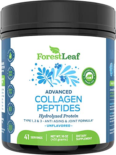 51dpvqrLlEL - Advanced Hydrolyzed Collagen Peptides - Unflavored Protein Powder - Mixes Into Drinks and Food - Pasture Raised, Grass Fed - for Paleo and Keto; Joints and Bones - 41 Servings Collegen