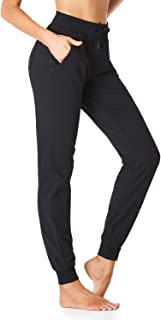 "SEVEGO Women's 32""/34"" Inseam Cotton Soft Jogger with Zipped Pockets Drawstring Workout Lounge Sweatpants"