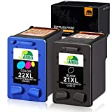 JARBO Manufactured Ink Cartridge for HP 21 22 21XL 22XL, 1 Black+1 Tri-Color, Used with HP Officejet 4315 J3680 Deskjet 3915 3930 3940 D1341 D1420 D1455 D1520 D1530 D1560 D2330 D2430 D2460 PSC 1410