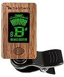 Afinador Cromático Beatberry Clip-On de madera, para guitarra, bajo, ukulele, banjo, violín. Con caja de regalo de alta calidad. Perfecto como regalo de Navidad para músicos