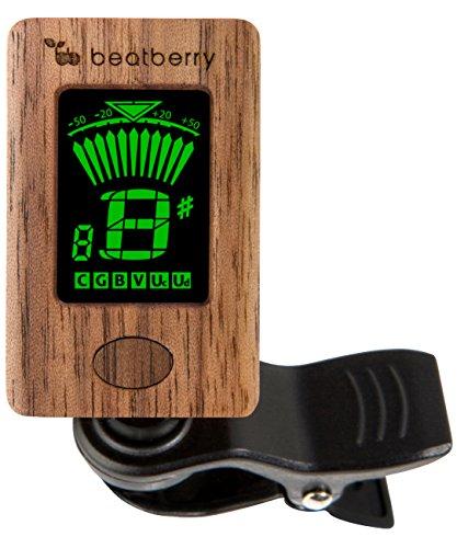 Beatberry - Sintonizzatore a clip, accordatore cromatico per chitarra, basso, ukulele, banjo, violoncello, violino, con confezione regalo di alta qualità