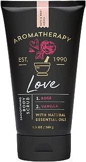 Bath & Body Works Aromatherapy Soothing Body Scrub, Love Rose Vanilla, 9.5 Ounce