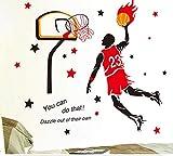 vinilos deportivos Pegatinas de pared creativas pegatinas decoraciones del dormitorio estrella de baloncesto universitario estrella cartel NBA James Kobe