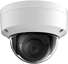 6MP PoE IP OEM Camera Dome Compatible with Hikvision,Indoor Outdoor Network Home Surveillance Security Camera with 98ft Night Vision,Micro SD Card Slot,H.265+,IP67 Waterproof, IK10 Vandal Resistan