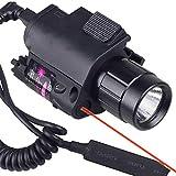 MAYMOC caccia Combo Red Dot Sight & Torcia Light Rail Airsoft un caricabatterie base scorrevole regolabile di 21mm