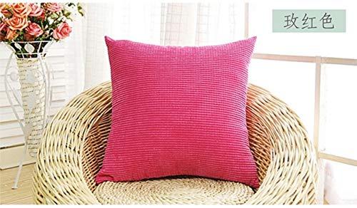 LEIXNDPLBO 2 stks zachte soild decoratieve vierkante sierkussen covers mooie korrel set kussen kussensloop voor sofa slaapkamer, rose, 45x45 cm2 stuks