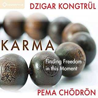 Karma     Finding Freedom in This Moment              By:                                                                                                                                 Pema Chödrön,                                                                                        Dzigar Kongtrul Rinpoche                               Narrated by:                                                                                                                                 Pema Chödrön,                                                                                        Dzigar Kongtrul Rinpoche                      Length: 2 hrs and 4 mins     11 ratings     Overall 4.4
