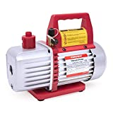 Kozyvacu TA350 Single-Stage Rotary Vane Vacuum Pump for HVAC/Auto AC Refrigerant Recharging, Wine Degassing, Milking,...