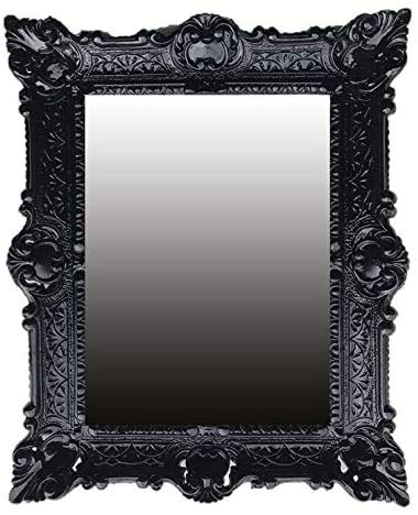 Lnxp - Espejo de pared estilo barroco, color negro