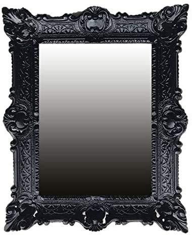 Lnxp wandspiegel barok spiegel in zwart renaissance opulente prachtvolle nostalgie antieke barok repro barok stijl