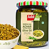 Add me Home Made Green Chilli Pickles in Extra Virgin Olive Oil, 500