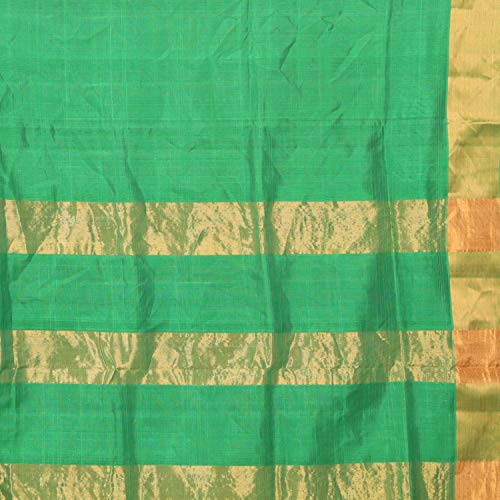 APCO (An Andhra Pradesh Govt. Enterprise) Handloom Traditional Madhavaram Sico Cotton Saree For Women With Blouse Piece PINK WITH GREEN CHEQUER