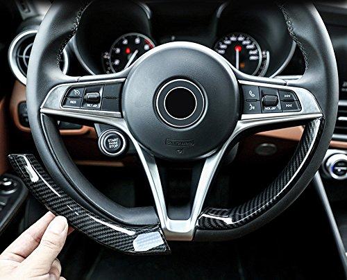 Strisce decorative in plastica ABS, stile fibra di carbonio per volante, allestimento, accessorio auto per Alfa Romeo Giulia e Stelvio