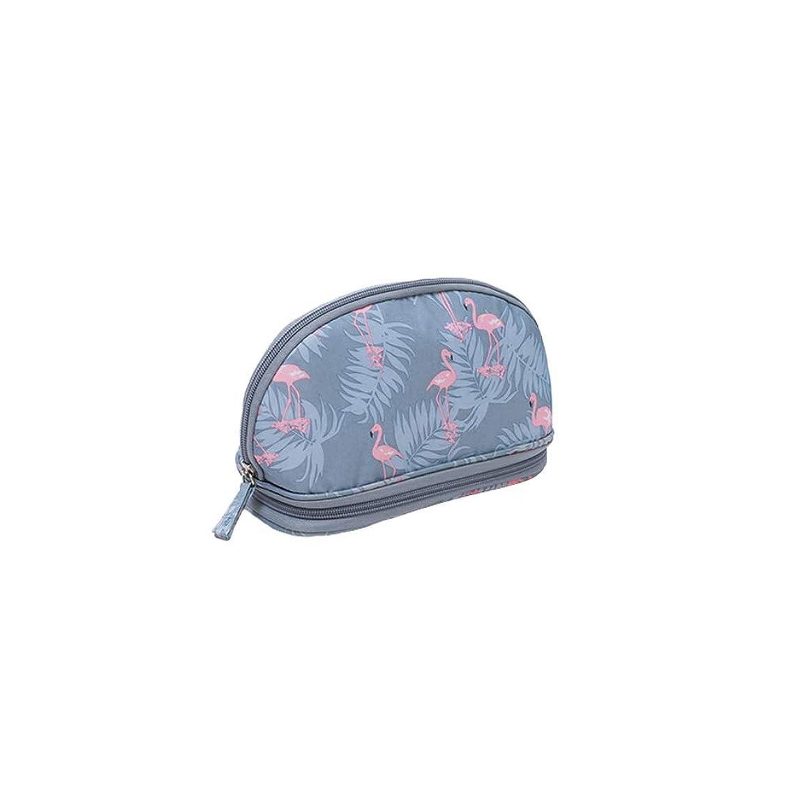 収納ポーチ 化粧ポーチ トラベルポーチ コスメポーチ メイクポーチ 小物入れ トラベルポーチ 大容量 軽量 防水 携帯用 (グレー)