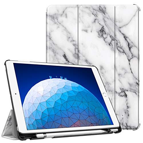 """Fintie Hülle für iPad Air 10.5"""" 2019 (3. Generation) / iPad Pro 10.5"""" 2017 - Ultra Schlank Superleicht Ständer Schutzhülle mit eingebautem Pencil Halter, Auto Schlaf/Wach, Marmor Weiß"""