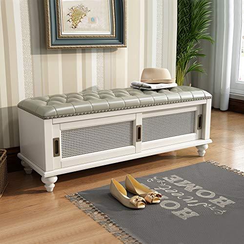Shoe Rack & Shoe Bench & Shoe Cabinet & Boot Organizing High-Grade Wood Storage(White