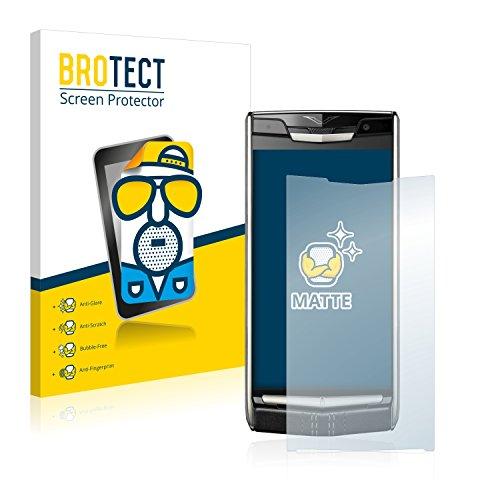 BROTECT 2X Entspiegelungs-Schutzfolie kompatibel mit Vertu New Signature Touch Bildschirmschutz-Folie Matt, Anti-Reflex, Anti-Fingerprint