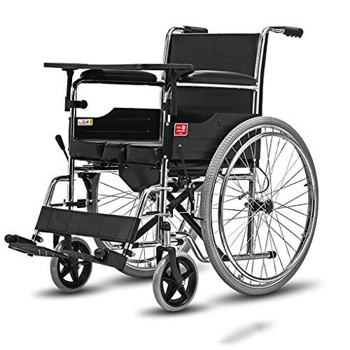 TWL-Wheelchair Transport im Rollstuhl Reisen Selbstfahrender Rollstuhl Tragbarer Kellner Abnehmbarer Leichter Klappwagen mit Schiebehilfe