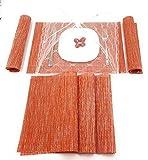 SET: 7 in 1: Tovagliette Americana lavabili Antiscivolo Resistente al Calore Per Cucina Ri...