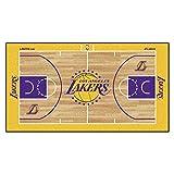 FANMATS NBA Los Angeles Lakers - Corredor de la NBA de Nailon para la Corte de los Ángeles, Talla pequeña
