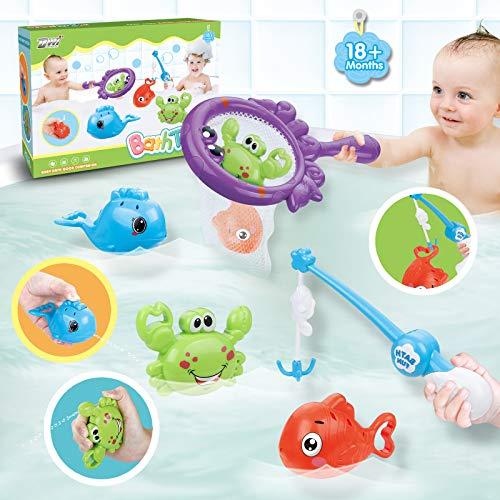 Dwi Dowellin Bath Toys Fishing Games with Fish Net...