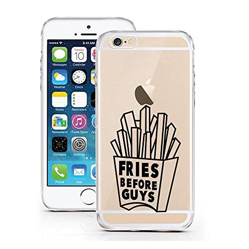 iPhone Cover di licaso per il Apple iPhone 5 & 5S SE di TPU Silicone Fries before Guys Patatine Fritte Uomini Modello molto sottile protegge il tuo iPhone 5 & 5S SE con stile Cover e Bumper