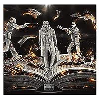 Xianrenge Jackboy(Living In History Deluxe)アルバムカバーポスターウォールアートプリントキャンバスリビングルームホームベッドルーム-24X24インチX1フレームレス