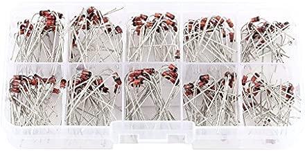 200pcs 10 valores de voltaje RegulatoZener diodo surtido kit electr/ónico 1N4738~1N4748 con caja de almacenamiento