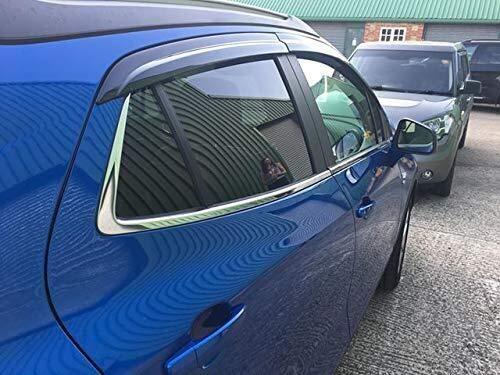 Wmk for Vauxhall Opel Mokka Auto Windabweiser Seitentür Fenster Visier Deflector Regen-Schutz Sonnenschutz Regen-Schutz Ablenkschutzelements Vent Abdeckungen Schutz Band-On Mount 4Pcs
