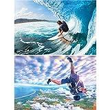 Great Art 2er Set XXL Poster Surfer und Skydiver Wandbild