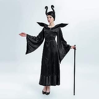 PIN Halloween Costumes Women Black Witch Performance Costume Halloween Princess Fairy Godmother Performance Costume,M